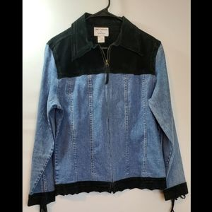 ***3 for $15 Denim & Leather Jacket Size Med